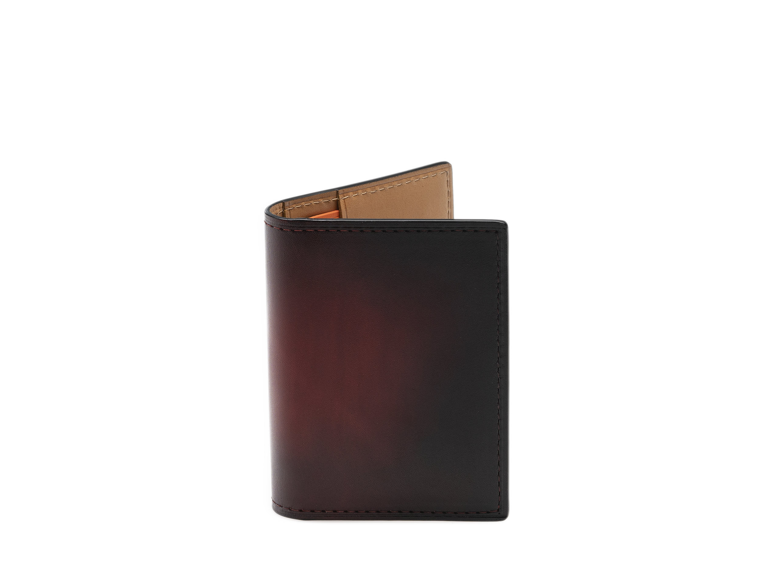 Product Shot of Card Fold Red Wallet