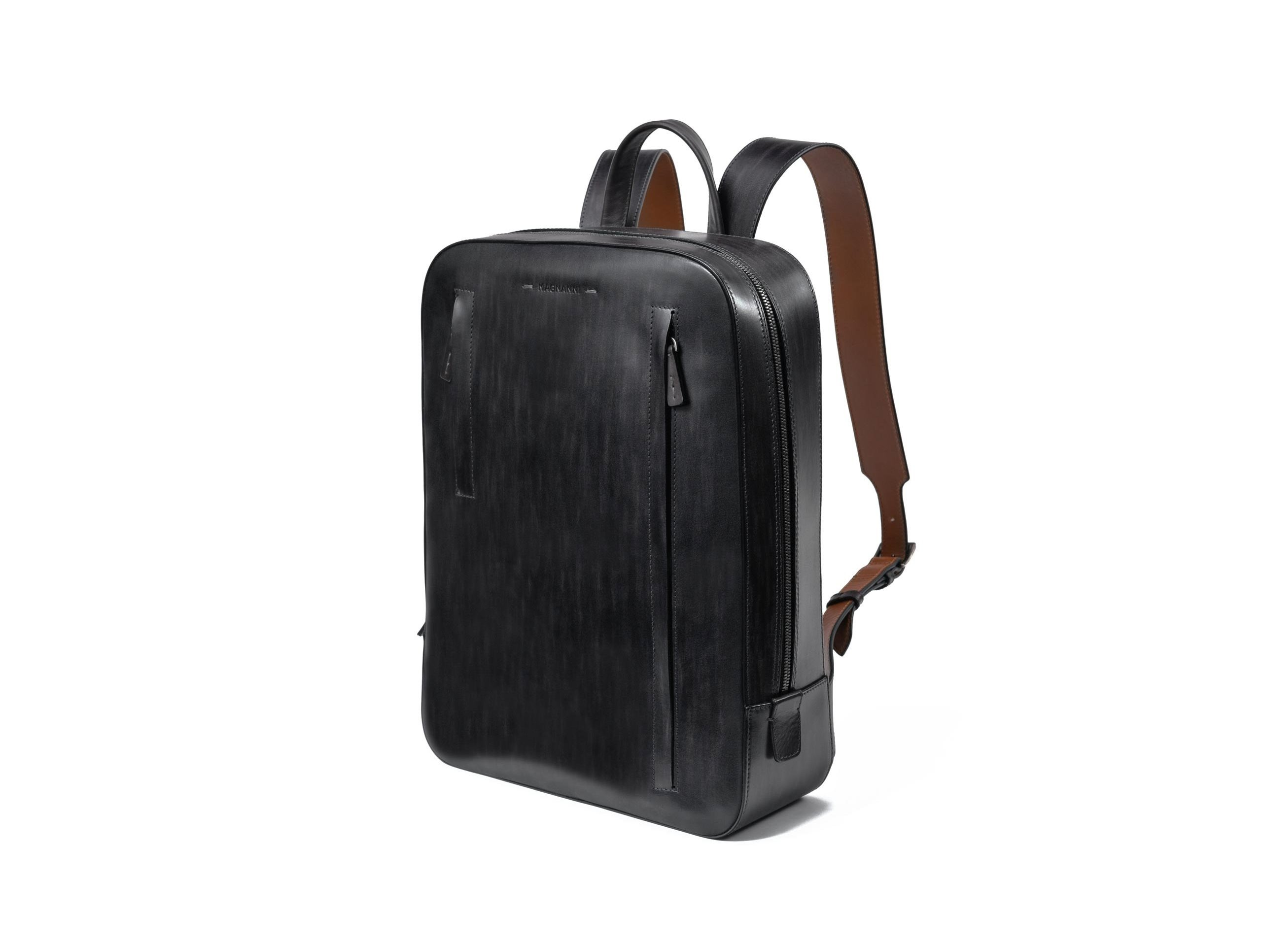 Grey leather bag for men - Magnanni
