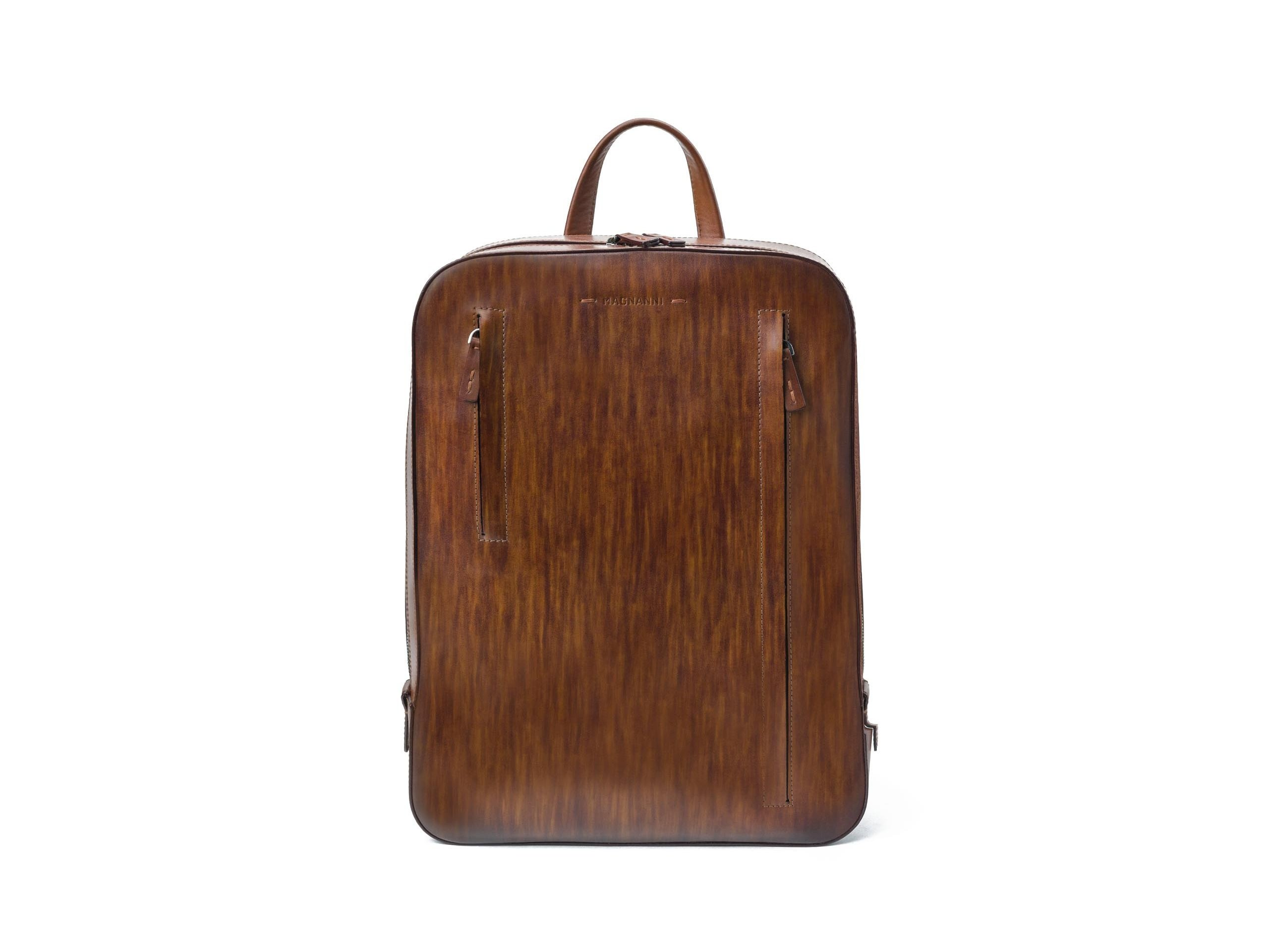 Side view of the Sport Cognac Bags