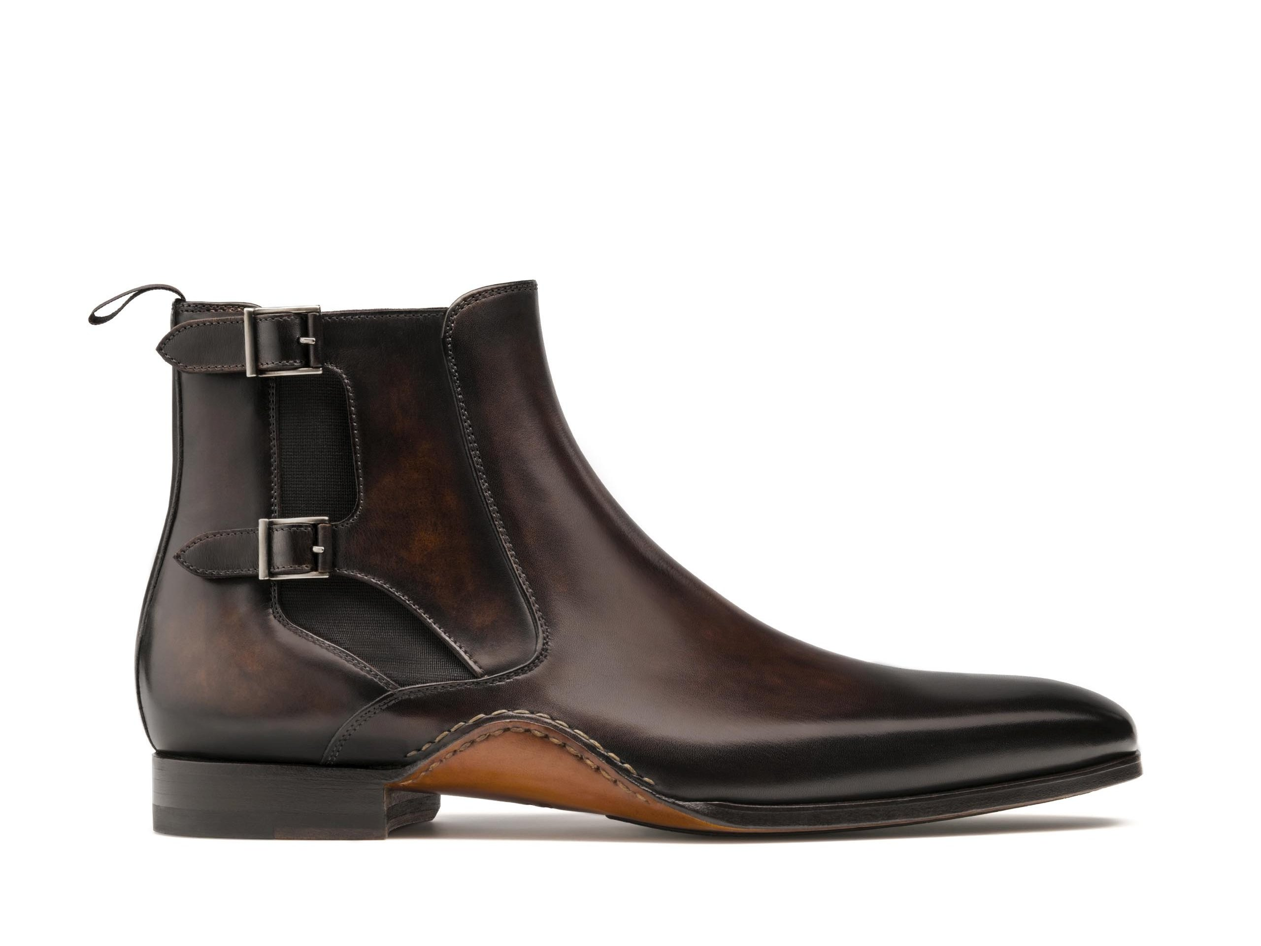 Side view of the Magnanni Grant Brown Men's Leather Chelsea Boots