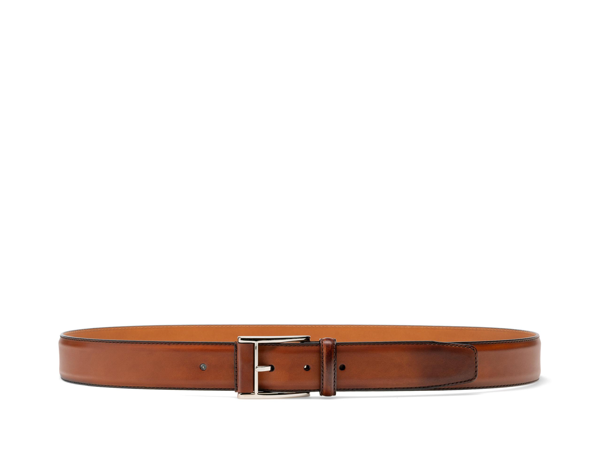 Side view of the Velaz Cognac Belts