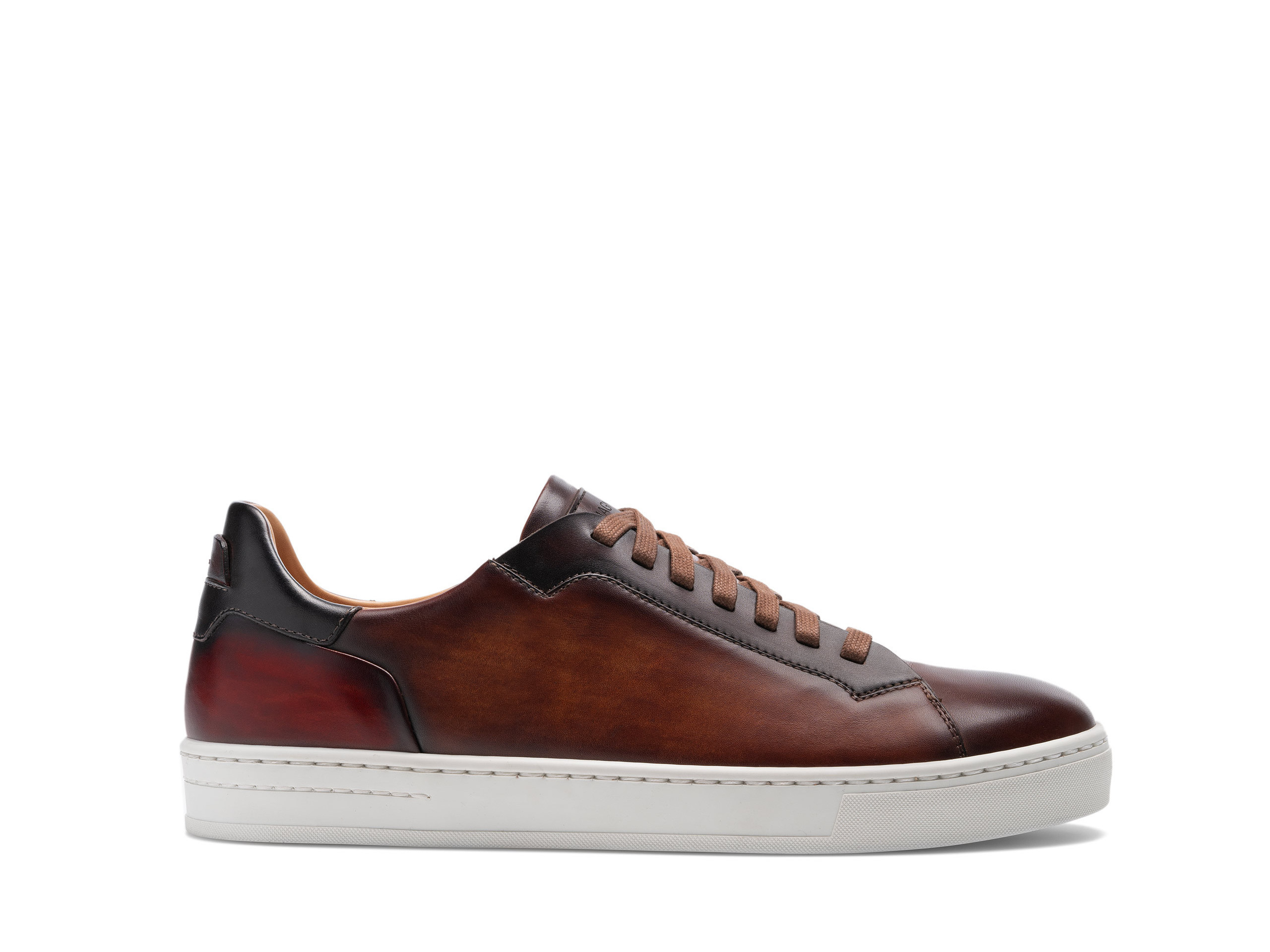 Side view of the Magnanni Amadeo Cognac Men's Sneakers