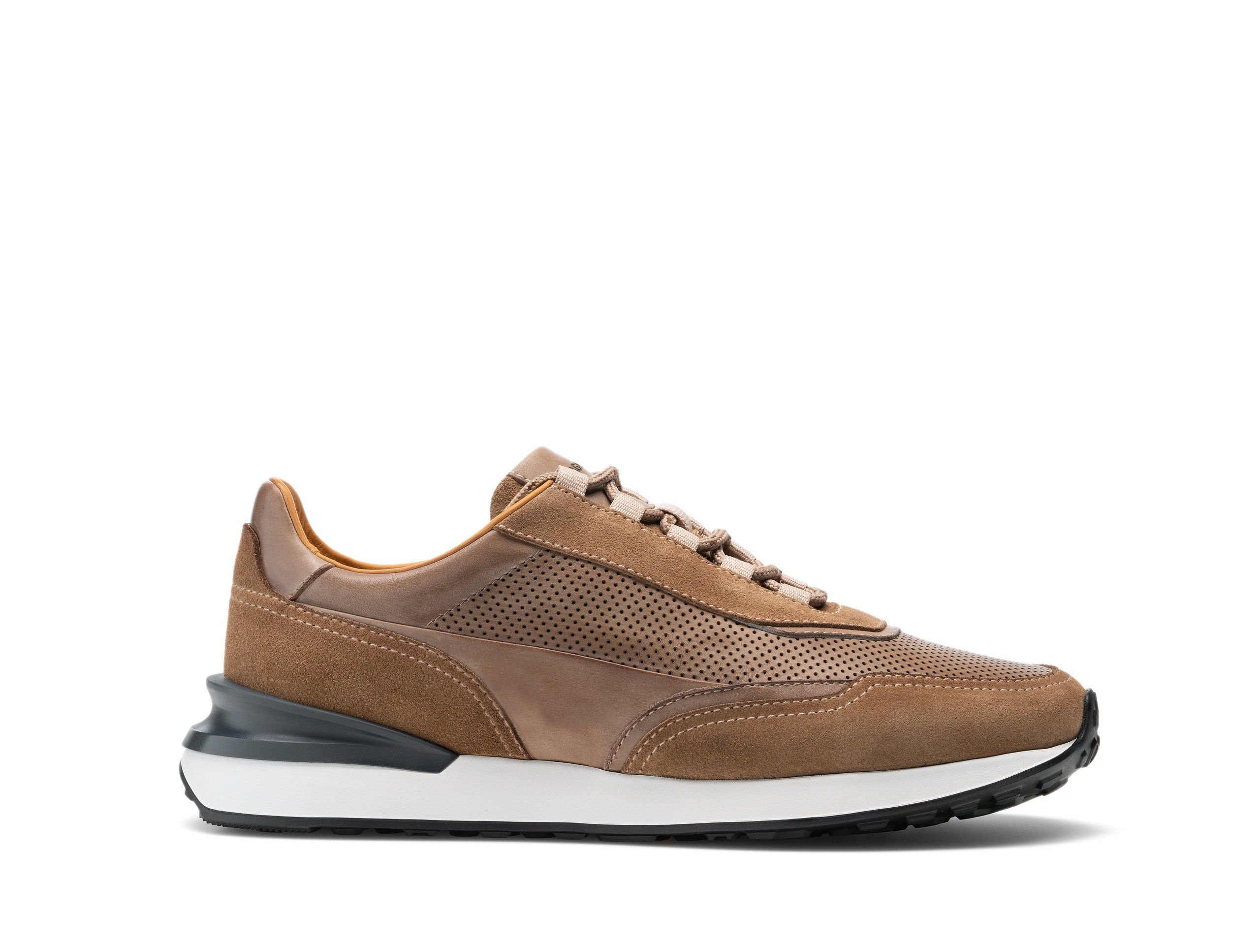 Side view of the Magnanni Siero Taupe Men's Sneakers