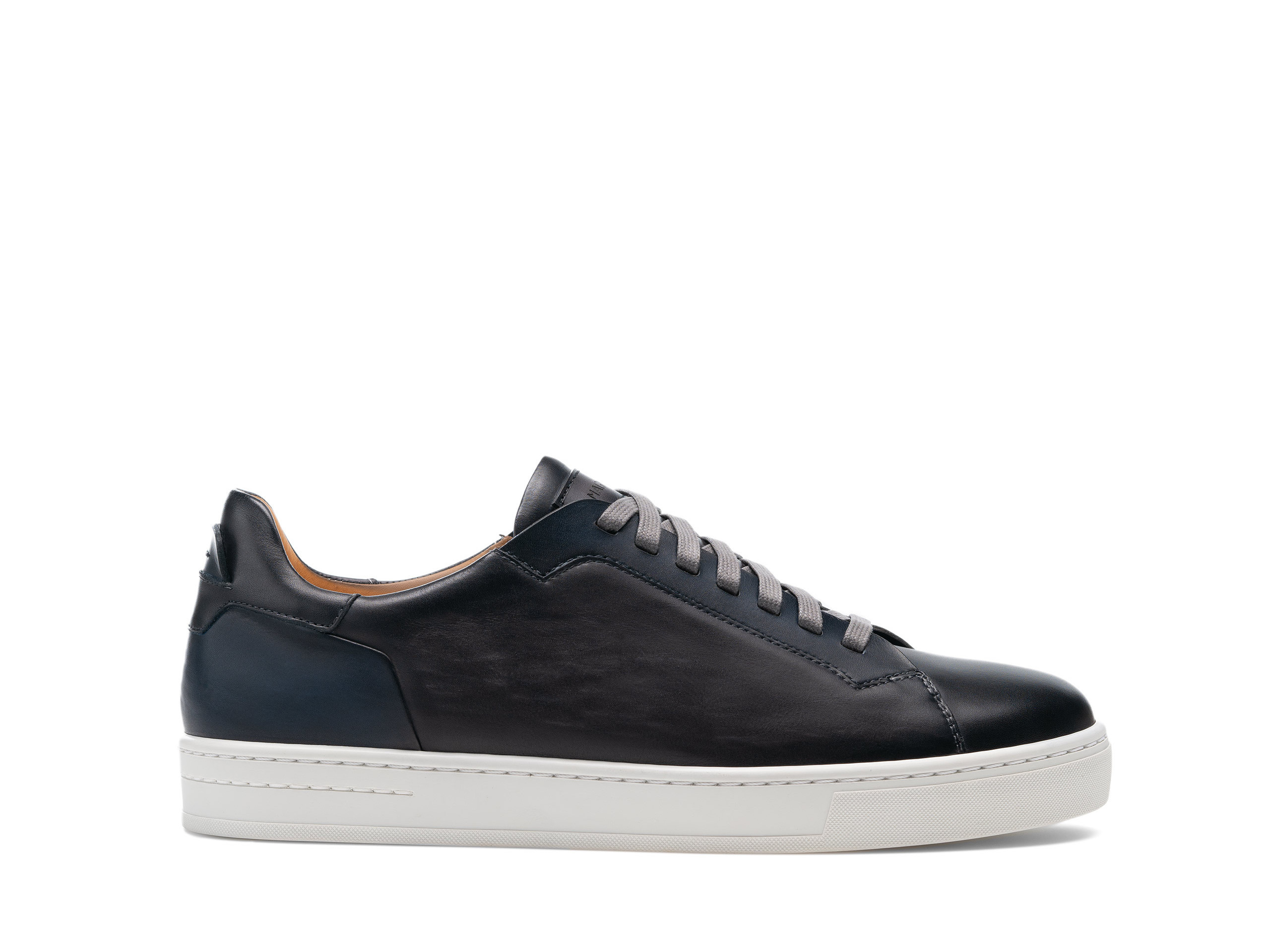 Side view of the Magnanni Amadeo Grey and Navy Men's Sneakers