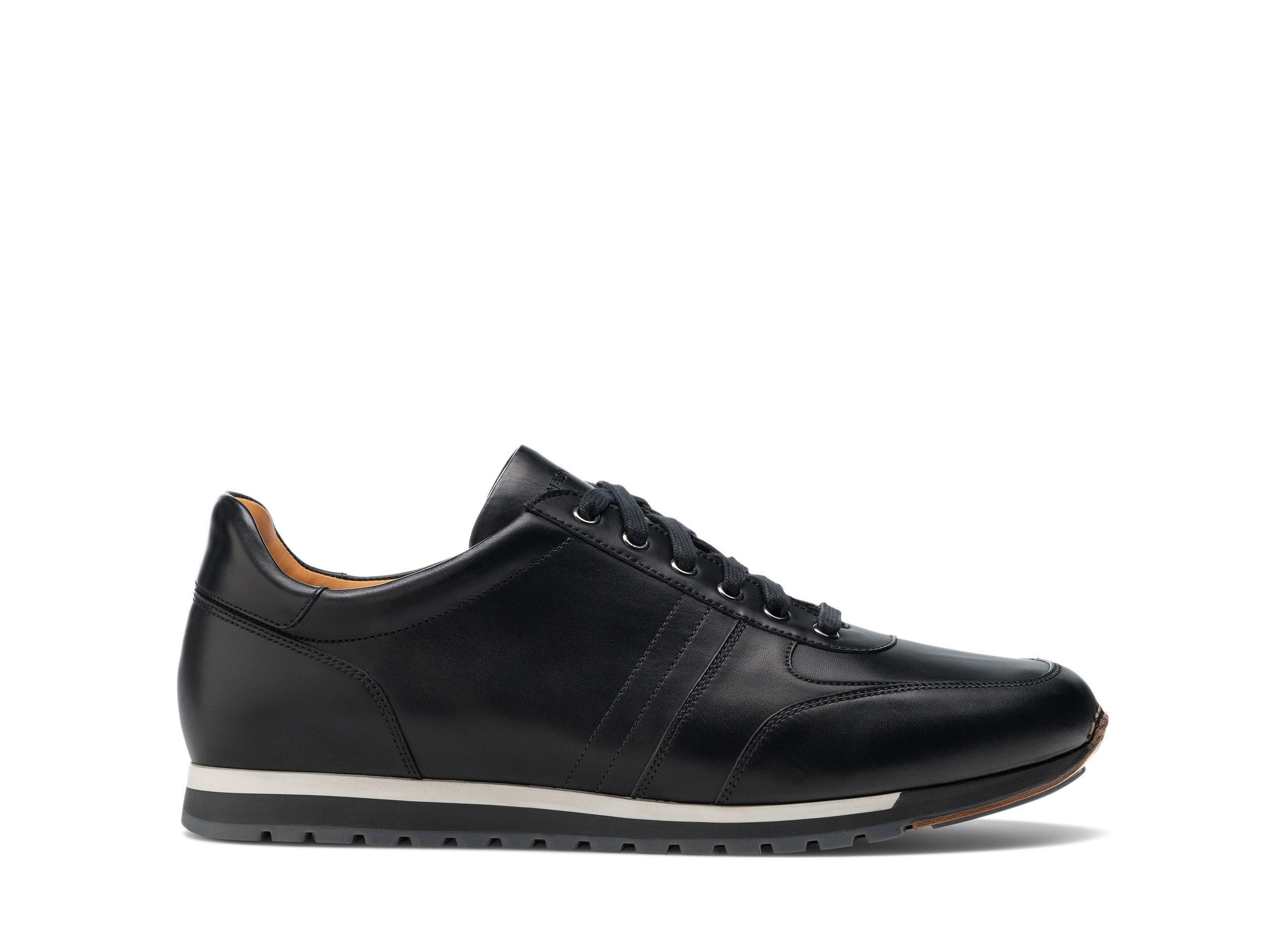 Side view of the Magnanni Ibiza Black Men's Sneakers