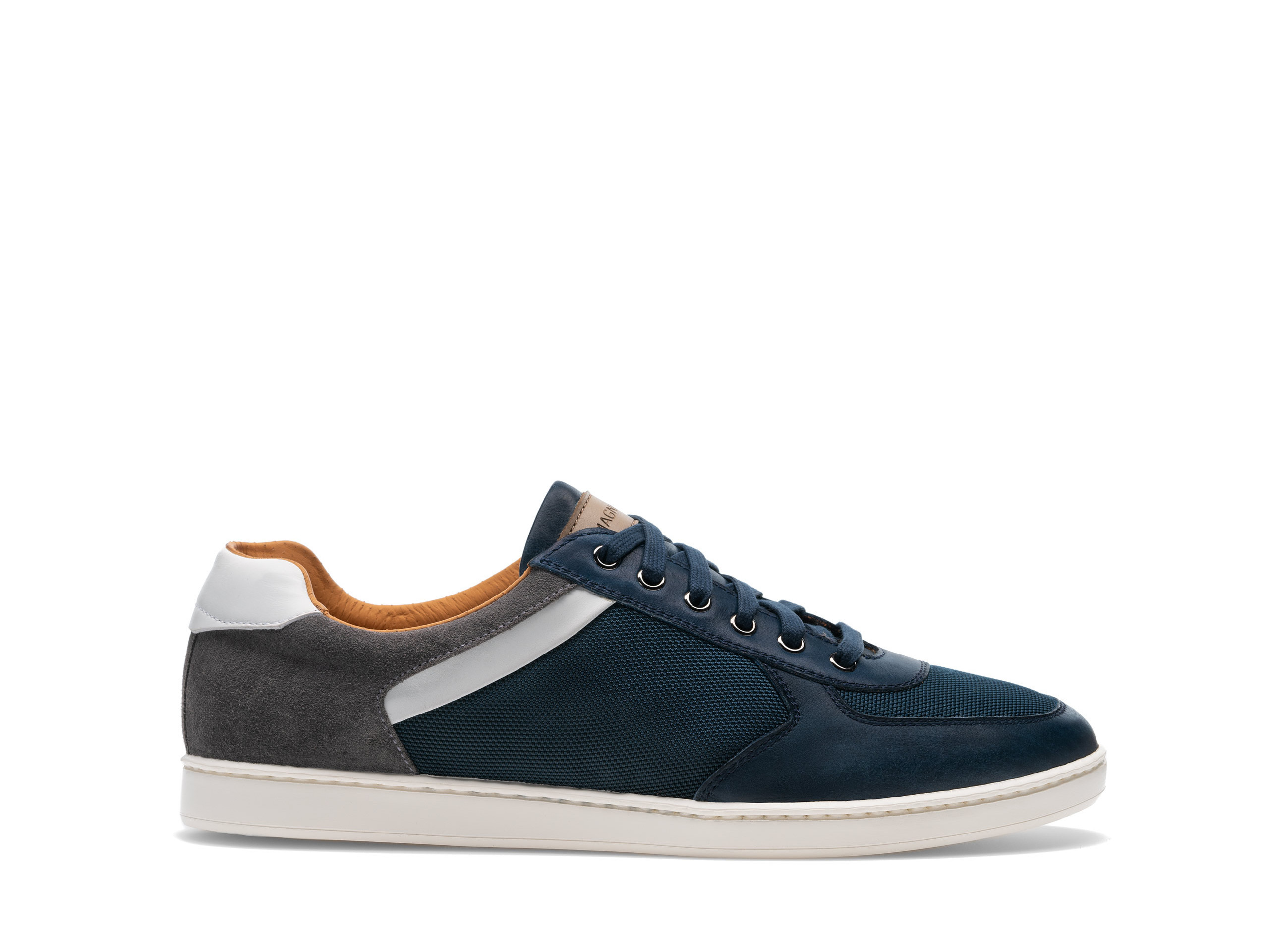 Side view of the Magnanni Echo Lo II Navy Men's Sneakers