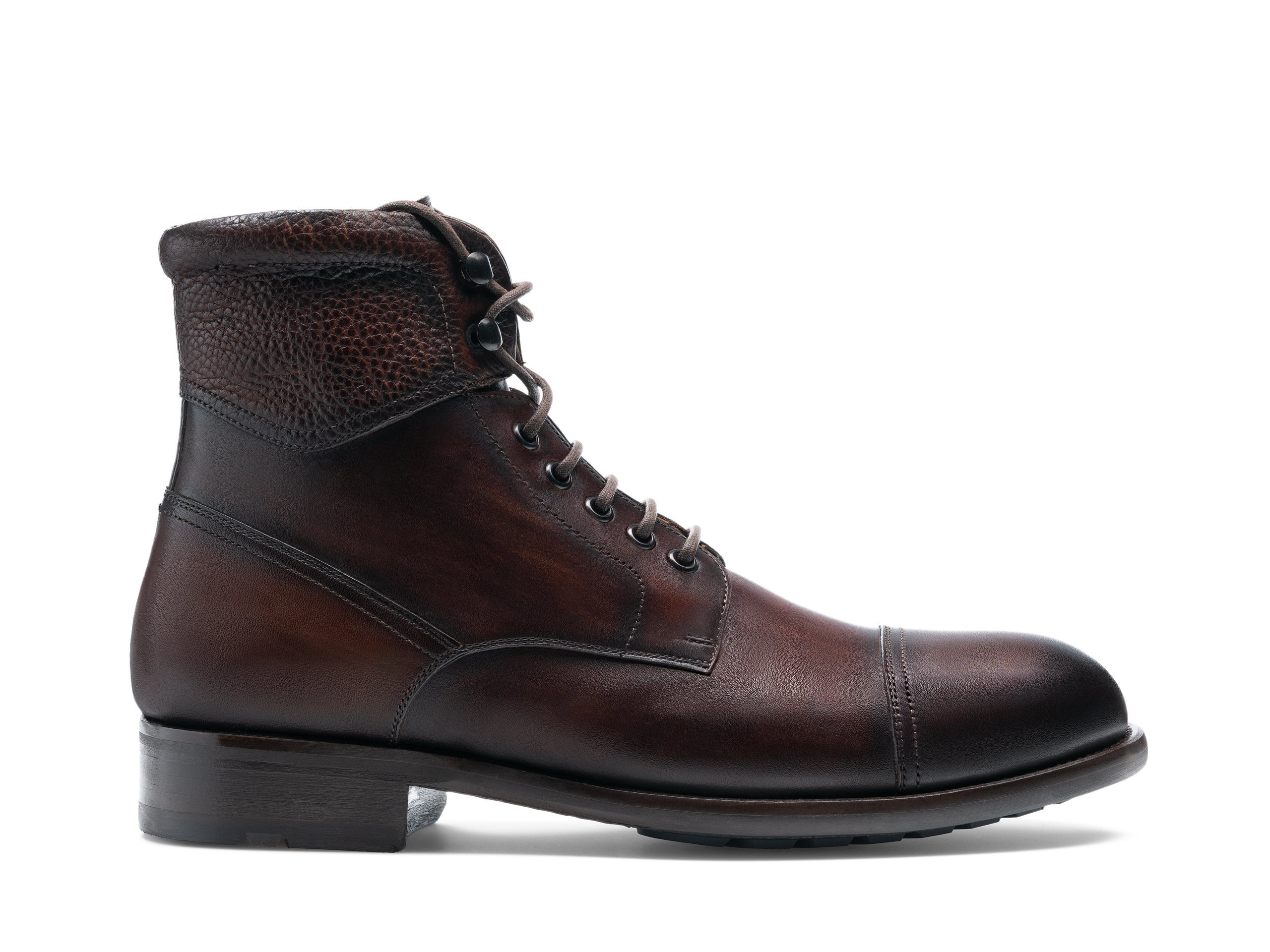 Side view of the Magnanni Peyton II Tabaco Men's Lace Up Boots