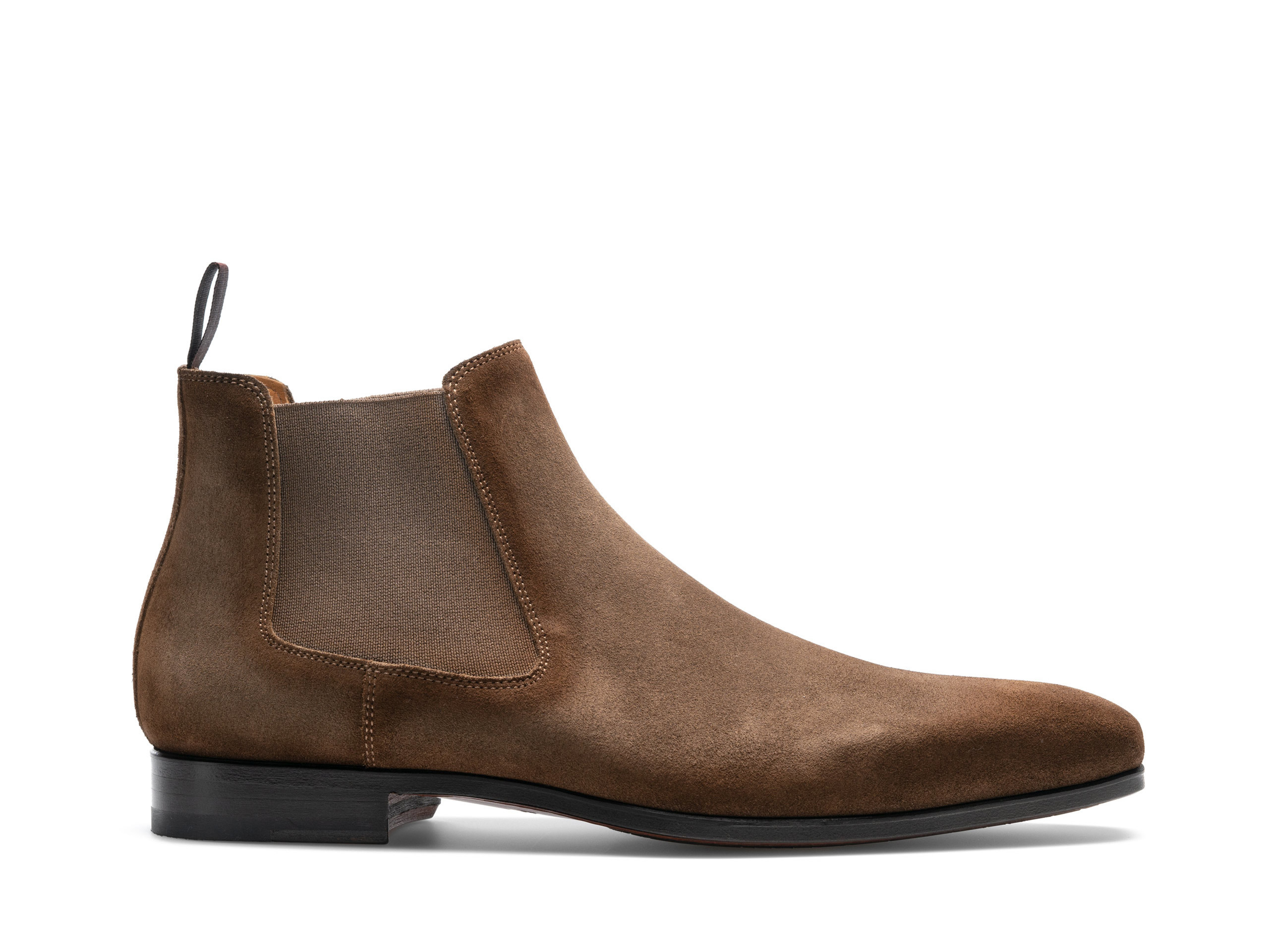 Side view of the Magnanni Shaw II Torba Suede Men's Leather Chelsea Boots