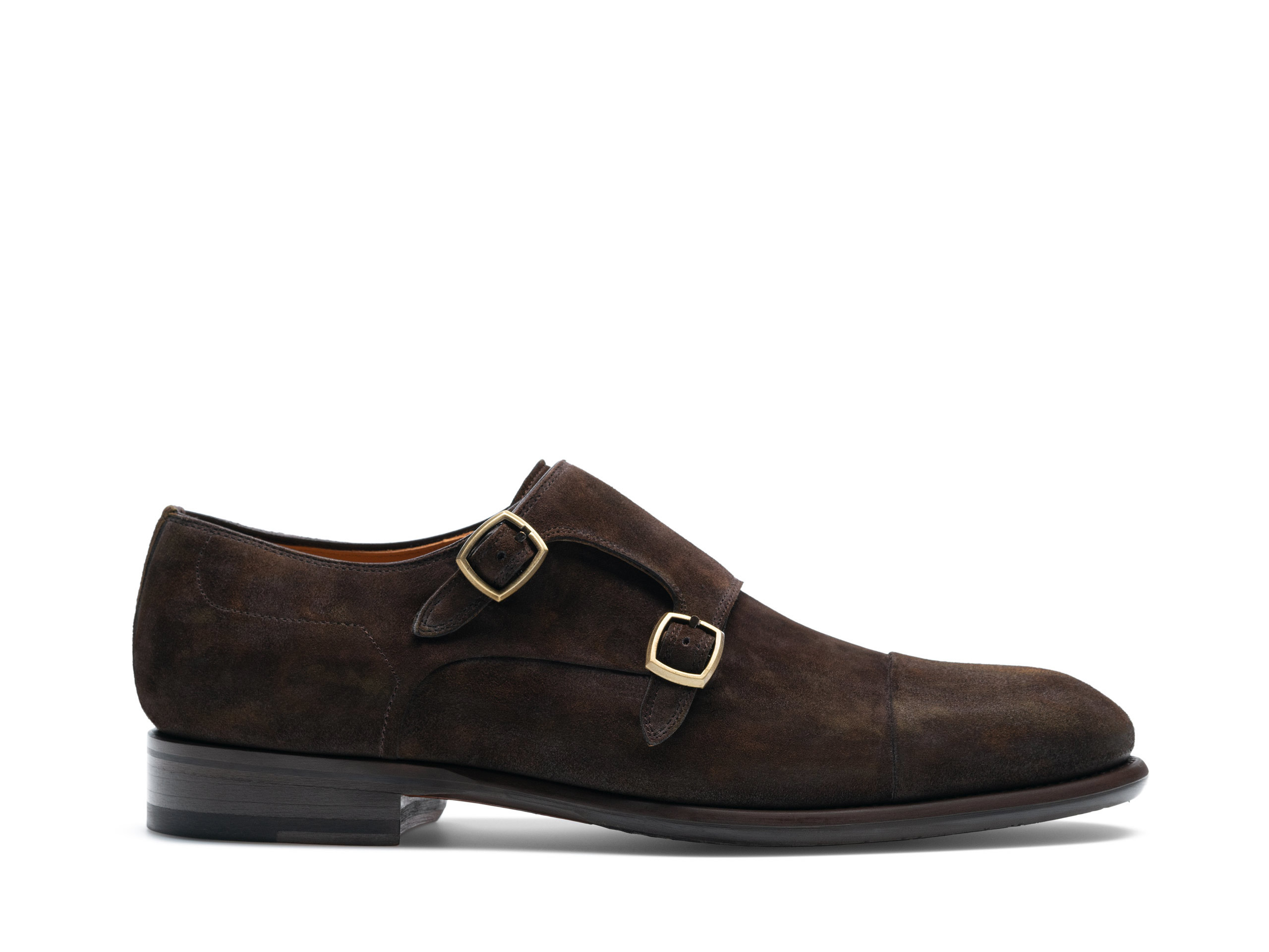 Side view of the Magnanni Mancera Brown Suede Men's Derby Shoes