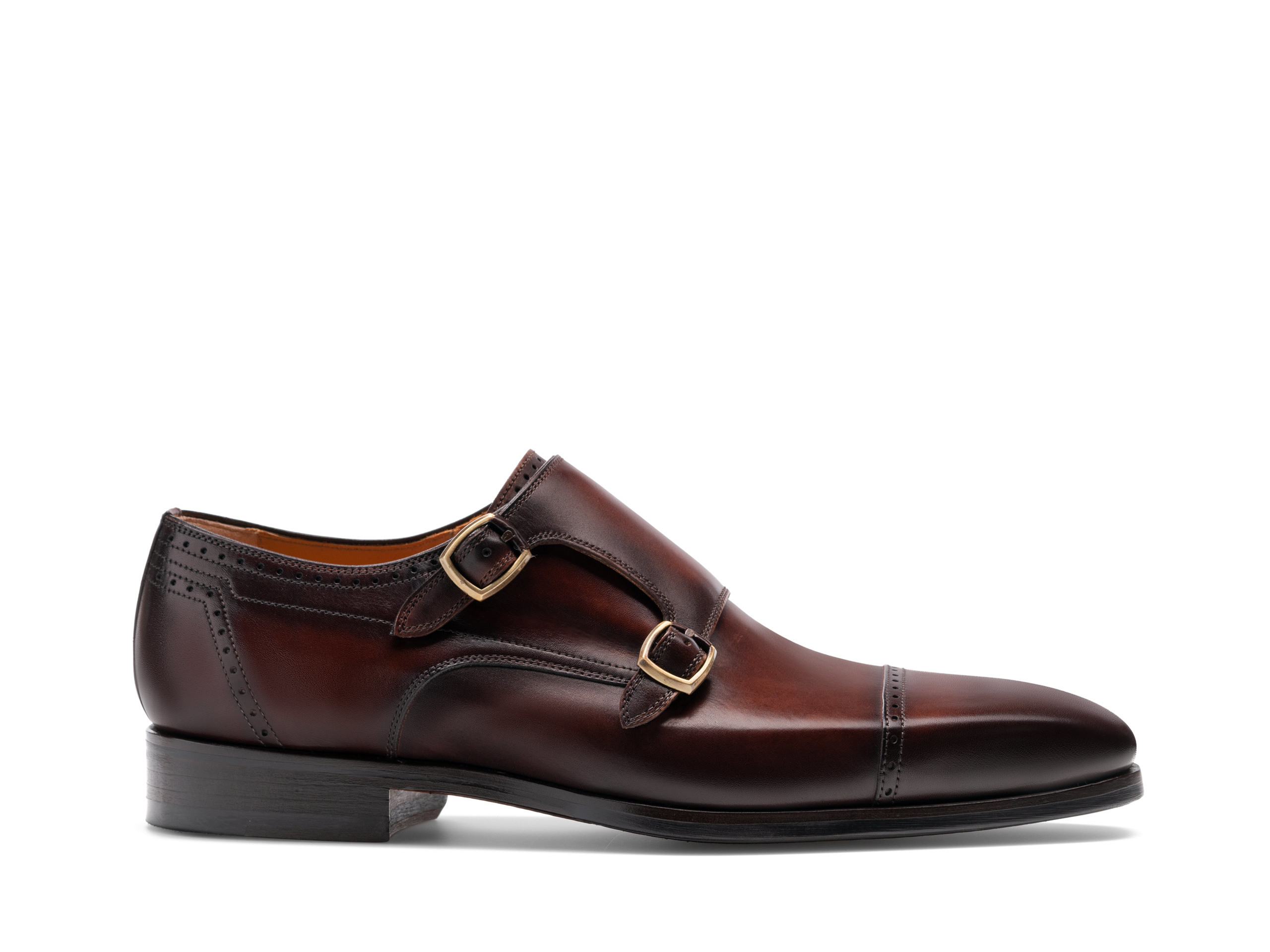 Side view of the Nalón Midbrown Shoes
