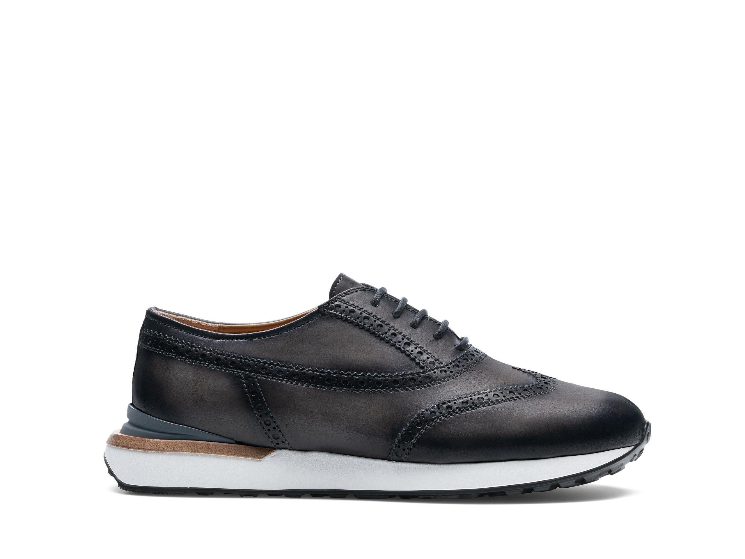 Side Profile of Selaya Grey Sneakers
