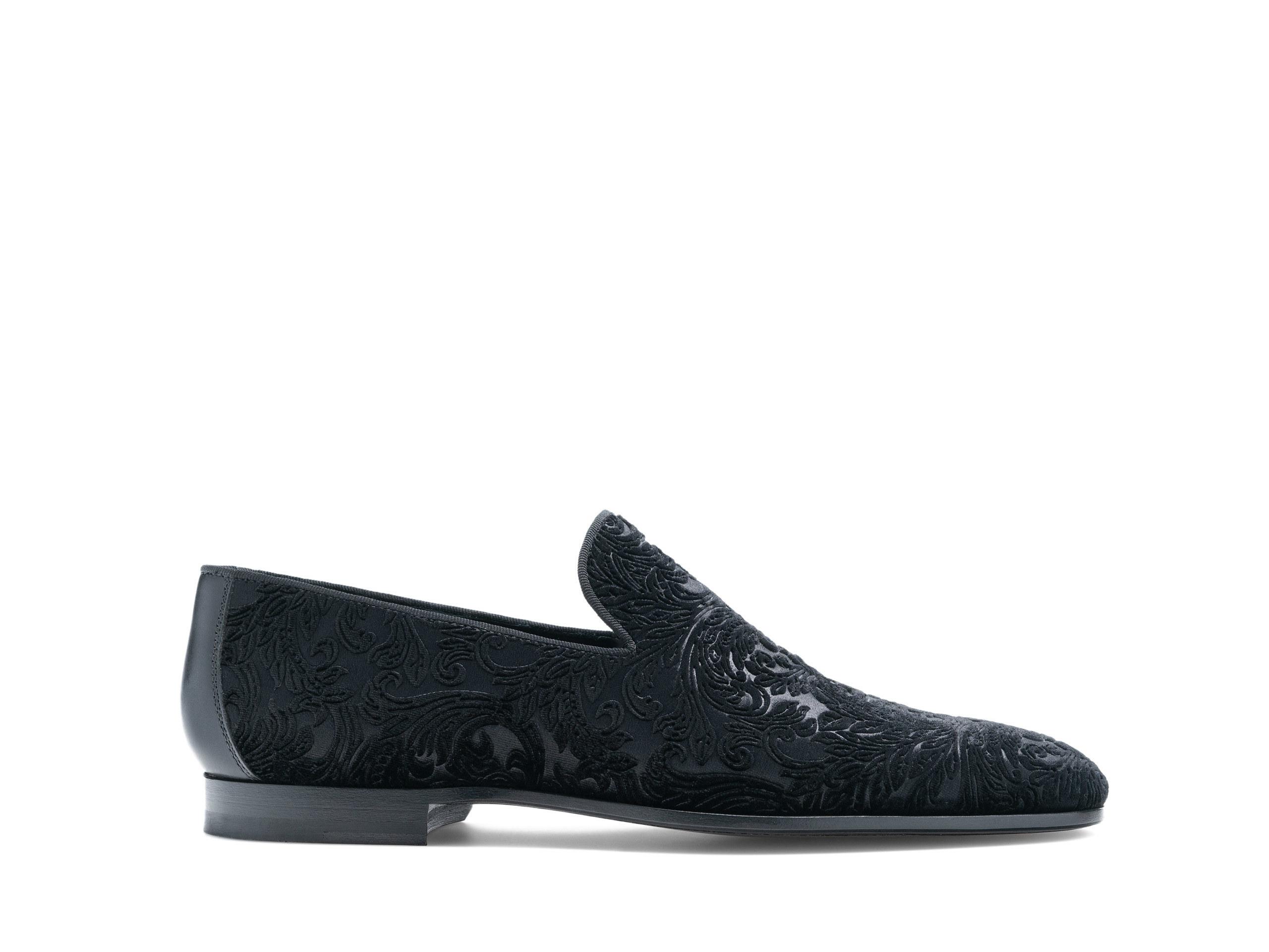 Side Profile of Vino Black Dress Loafers