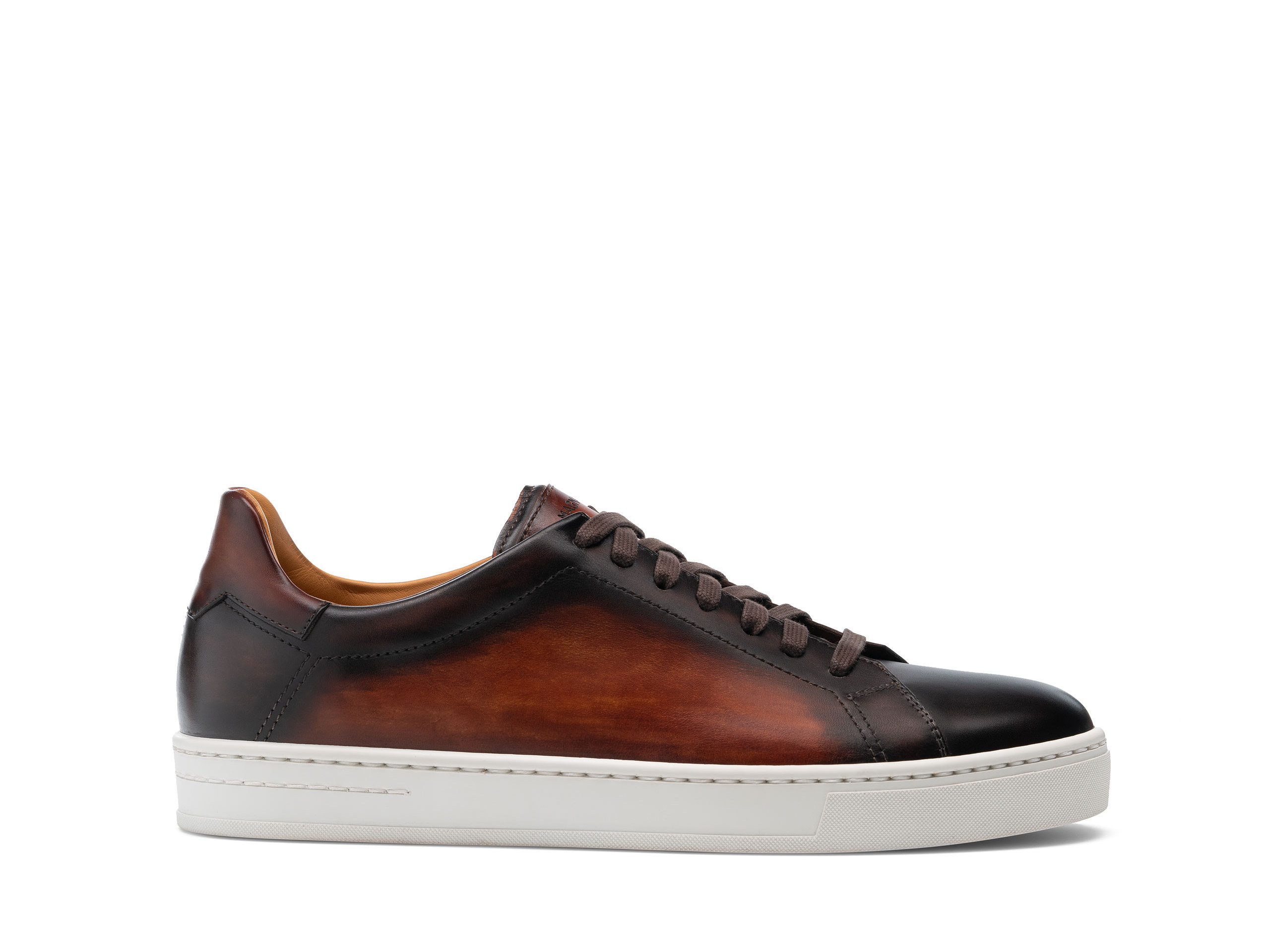 Side view of the Ruente Brown and Cognac Shoes