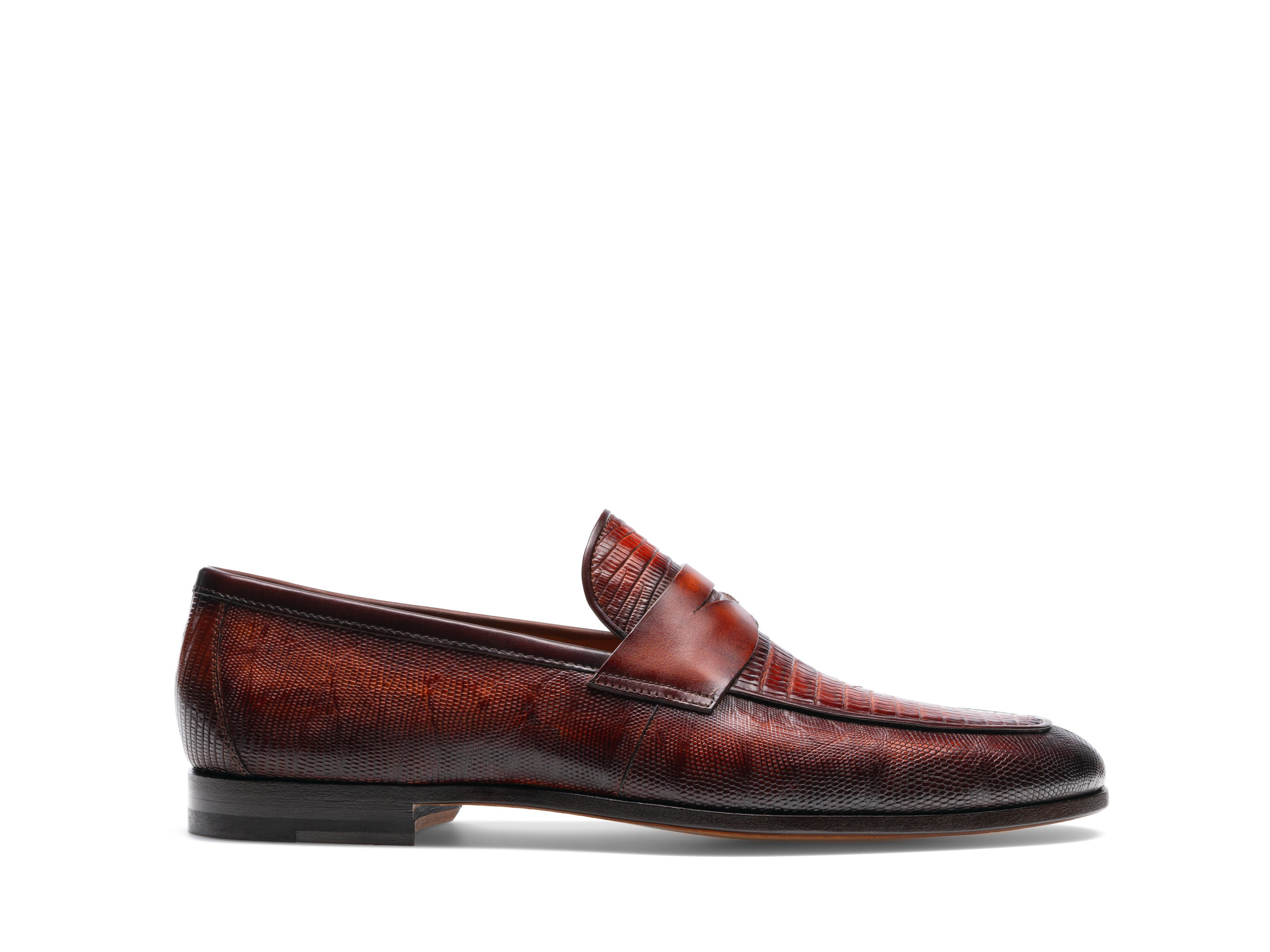 Side Profile of Vicente Cognac Loafers