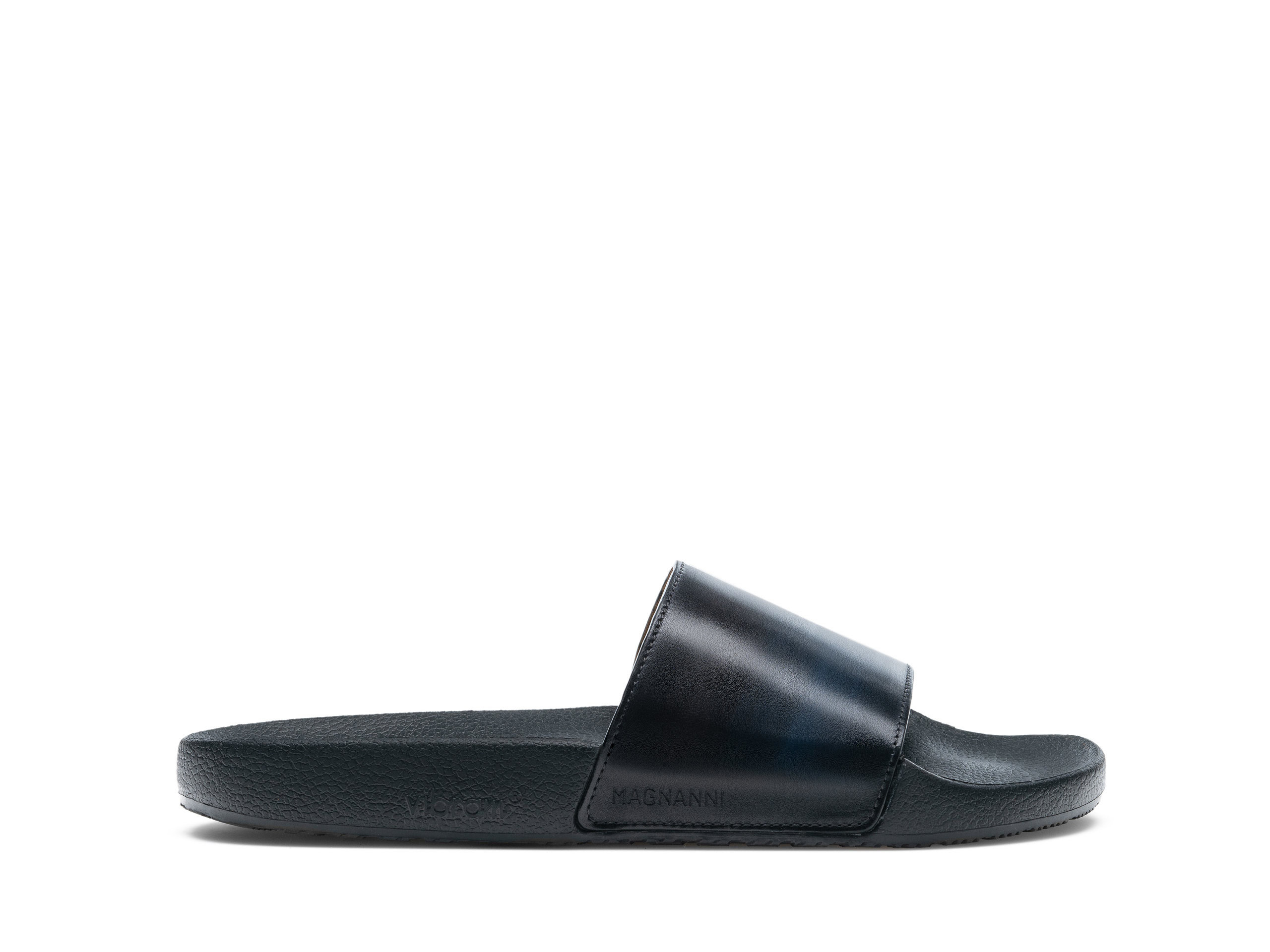 Playa Navy and Grey slides Side Profile