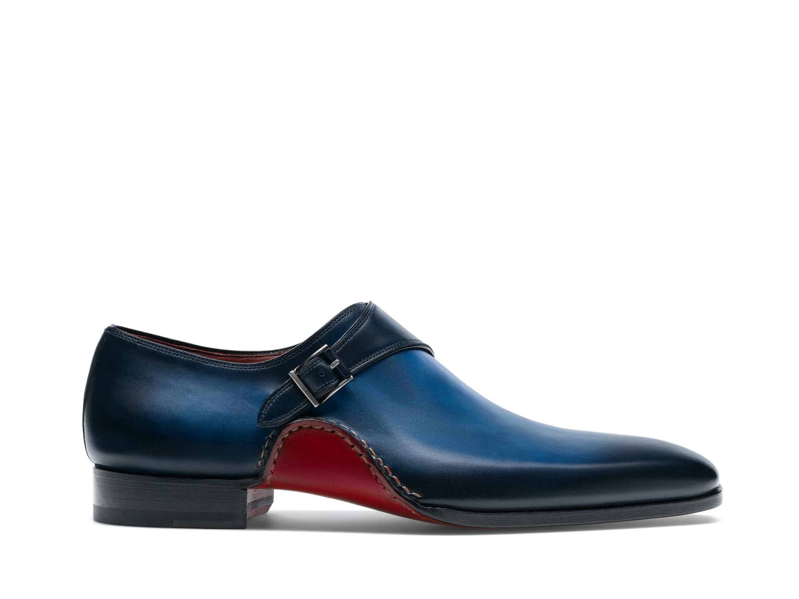 Side Profile of Carrera Navy Dress Shoes