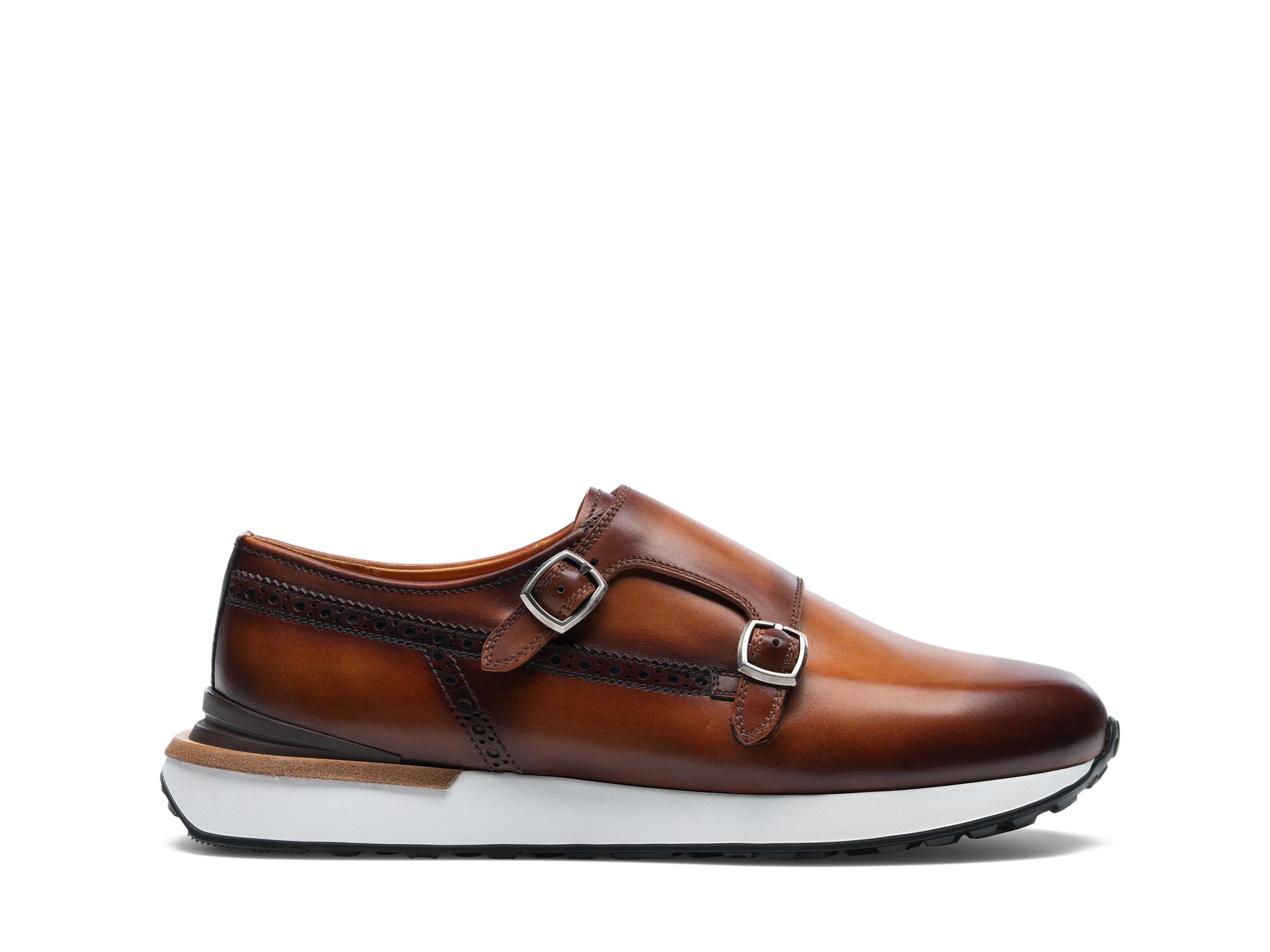 Side Profile of Orbada Cognac Sneakers