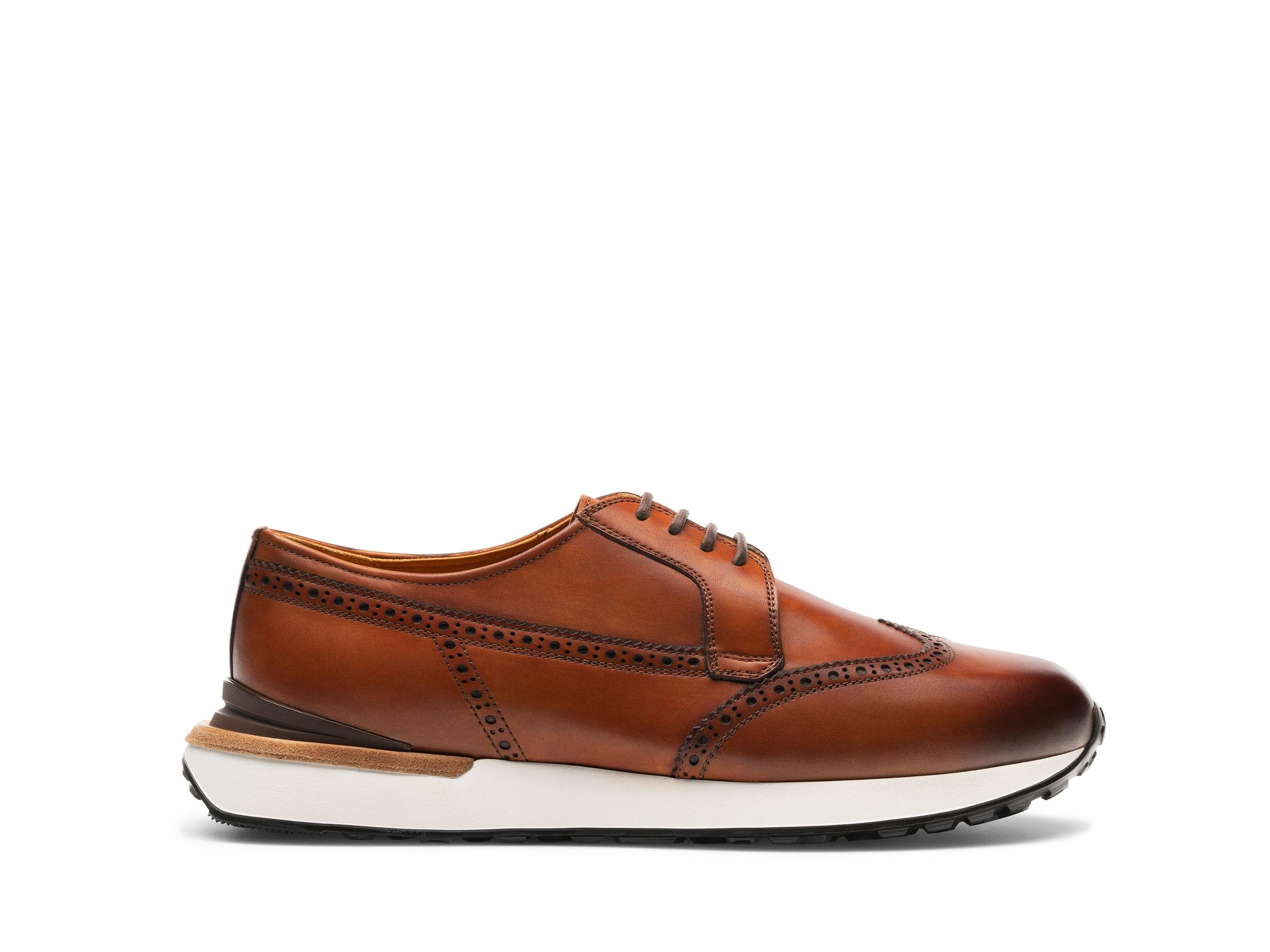 Side Profile of Lyam Cognac Sneakers
