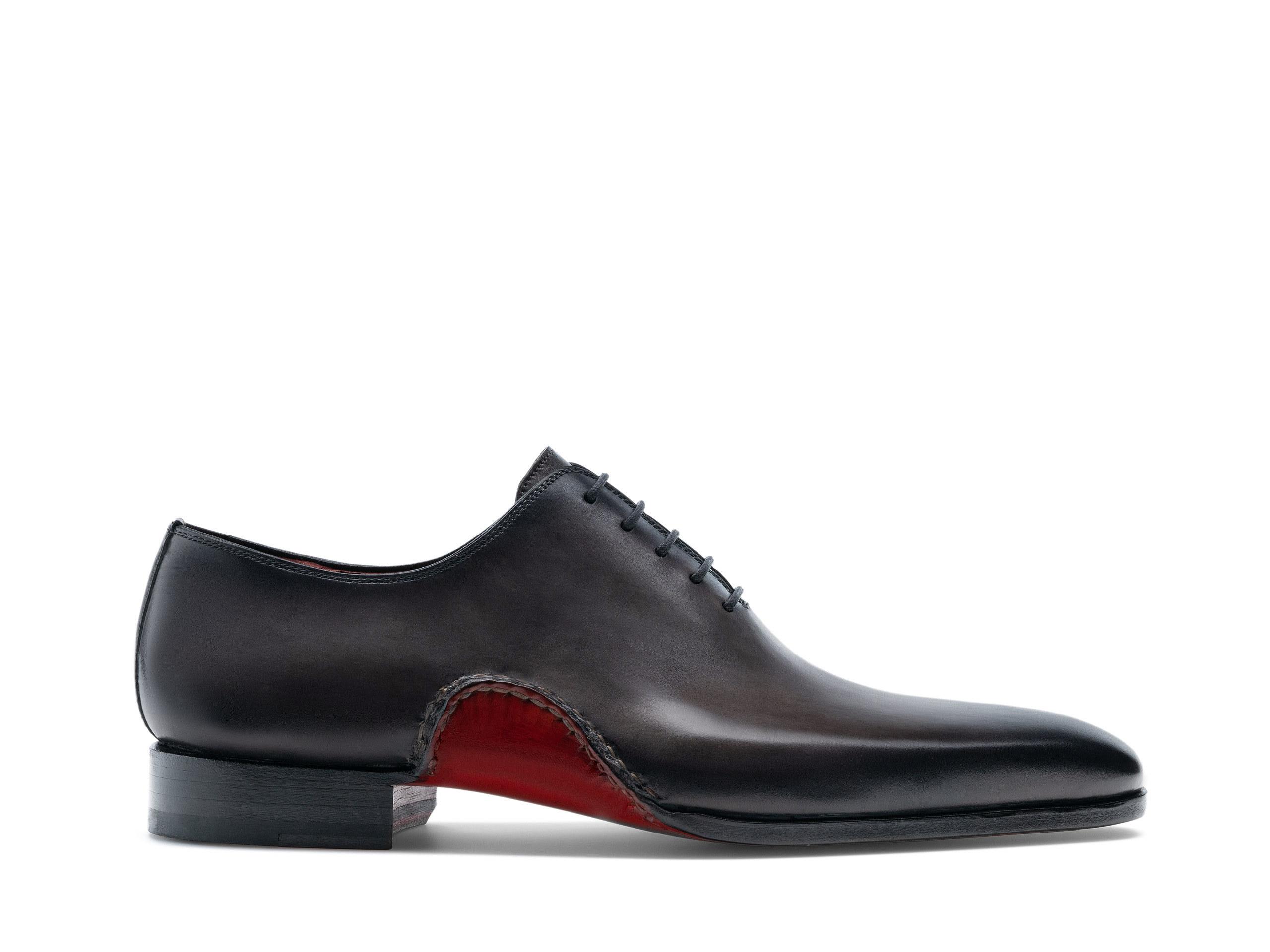 Side Profile of Aranga Grafito Dress Shoes