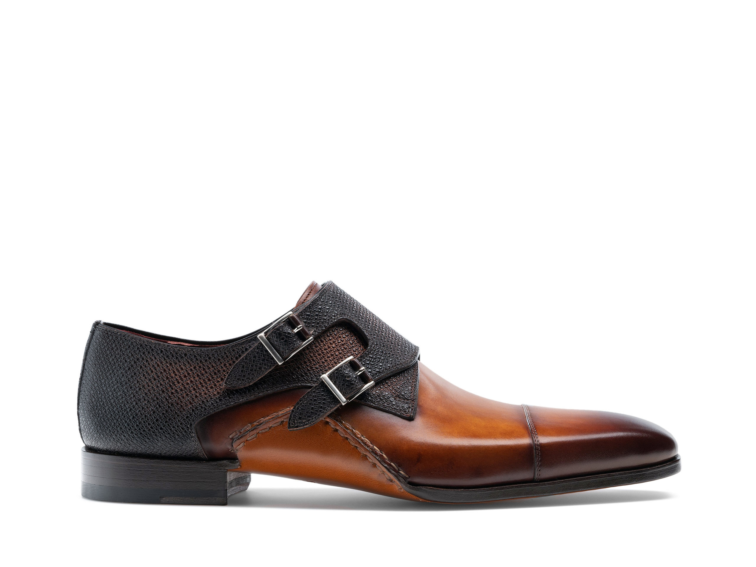 Side Profile of Ondara II Cuero and Brown Shoes