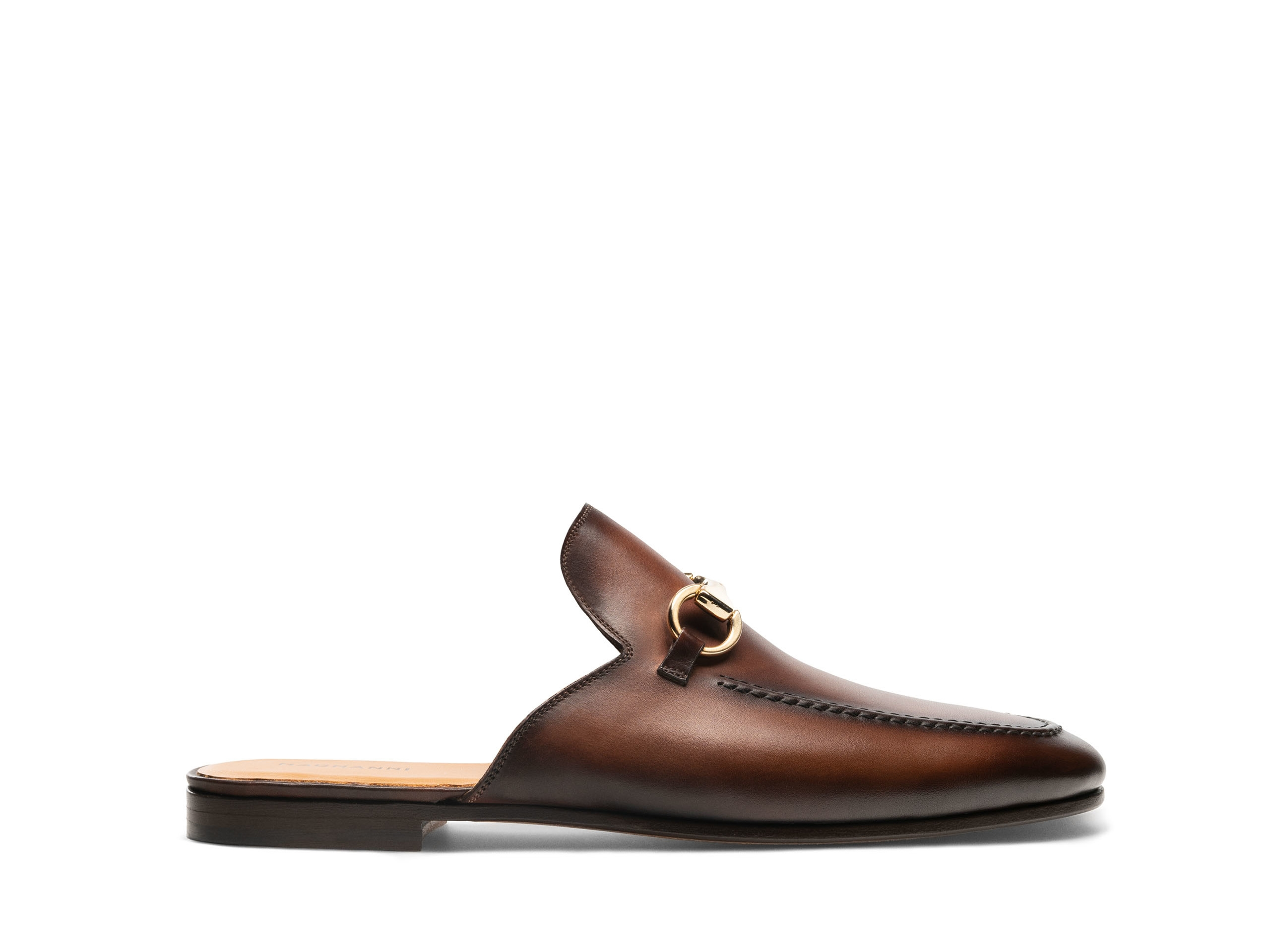 Pachino Mid-brown bit loafer Side Profile