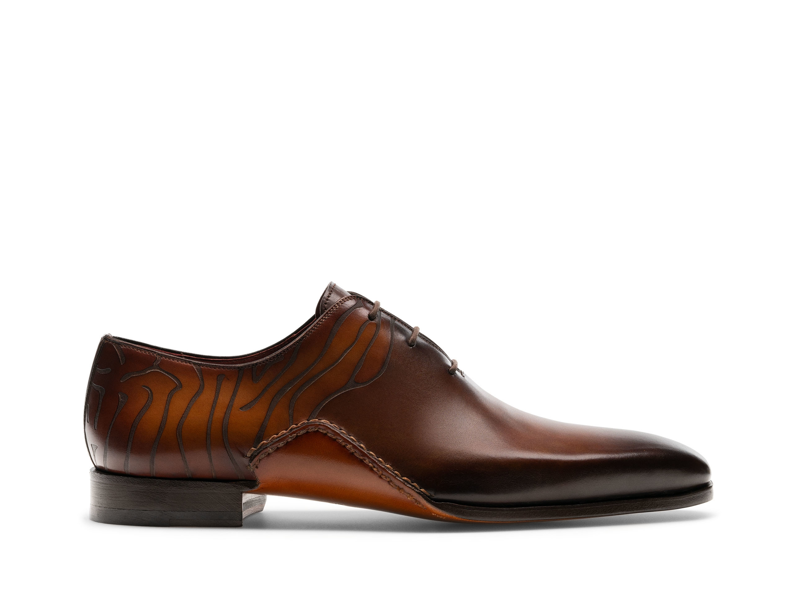 Tasos Tabaco and Cuero lace up dress shoes Side Profile