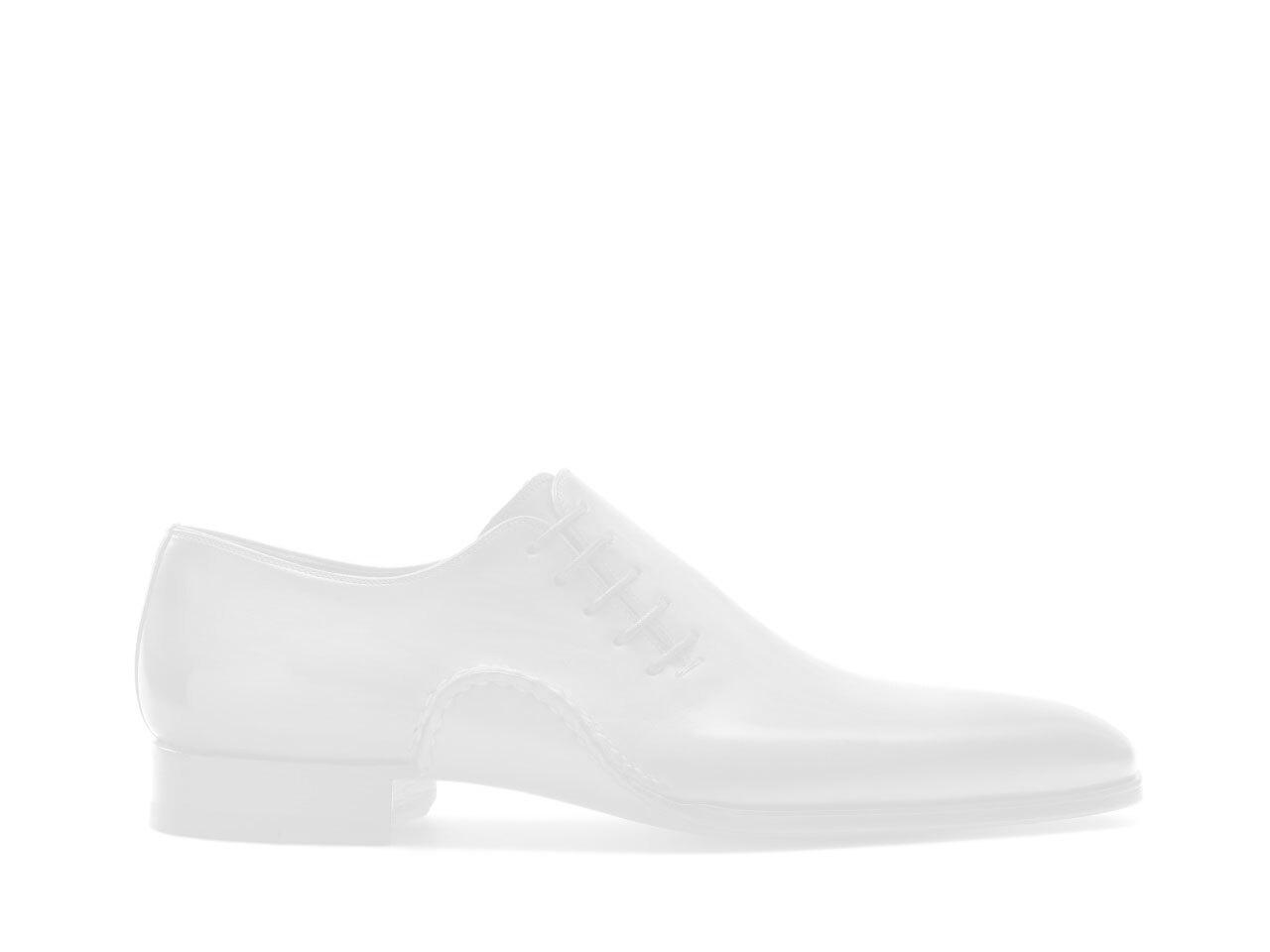 Navy blue wholecut single monk strap shoes for men - Magnanni